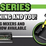 iOSデバイスと共に使用可能なMACKIE DLシリーズミキサー Lightning Dockタイプ出荷前有償オプション費用撤廃のご案内