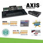 AXISデジタルミキシングシステムが多くの賞を受賞