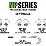Mackie新製品MPシリーズインイヤモニター「MP-320」「MP-360」「MP460」、Bluetoothワイヤレスアダプター「MP-BTA」発売開始