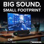 Mackie Bluetooth®デスクトップサウンドバー「CR StealthBar」を発表
